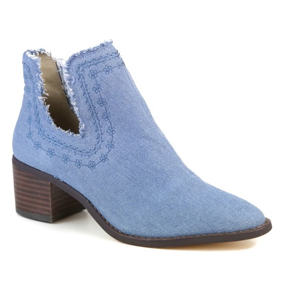 Band of Gypsies Shoes - Band of Gypsies Help Me Bootie Blue / Denim 9